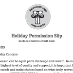 Take Time For Your Self with this Post-Holiday Permission Slip